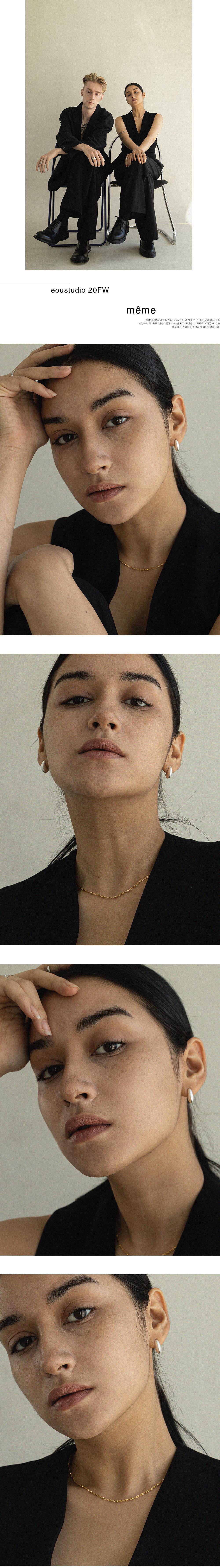 이오유스튜디오(EOU STUDIO) Lune earring_sv