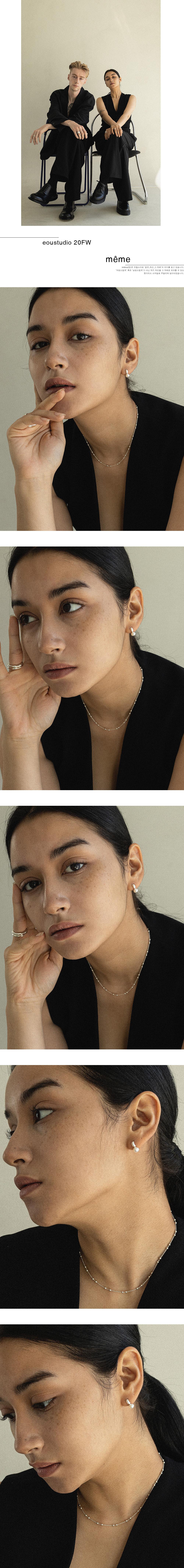 이오유스튜디오(EOU STUDIO) Small pearl hoop earring