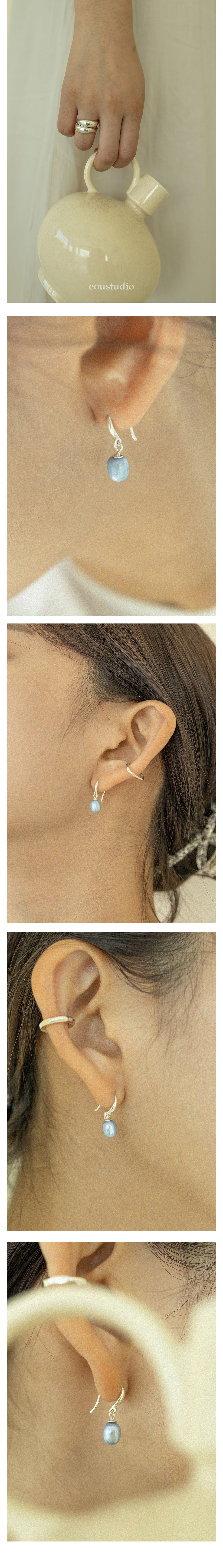 이오유스튜디오(EOU STUDIO) small blue pearl earring